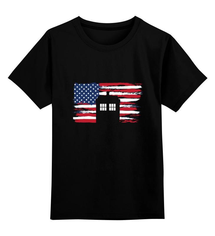 Детская футболка классическая унисекс Printio Tardis usa футболка usa