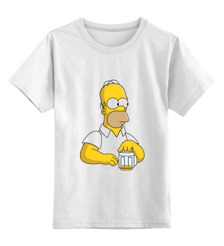 Детская футболка классическая унисекс Printio Гомер симпсон суриков и е гомер
