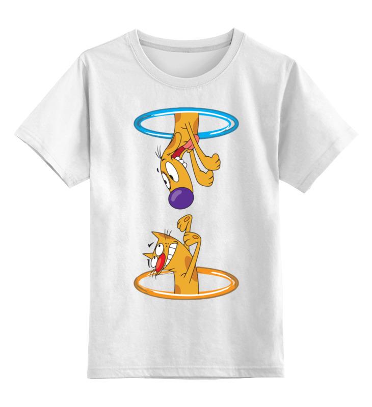 Детская футболка классическая унисекс Printio Котопёс цена