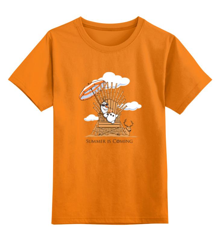 Детская футболка классическая унисекс Printio Summer is coming (лето близко) цена и фото
