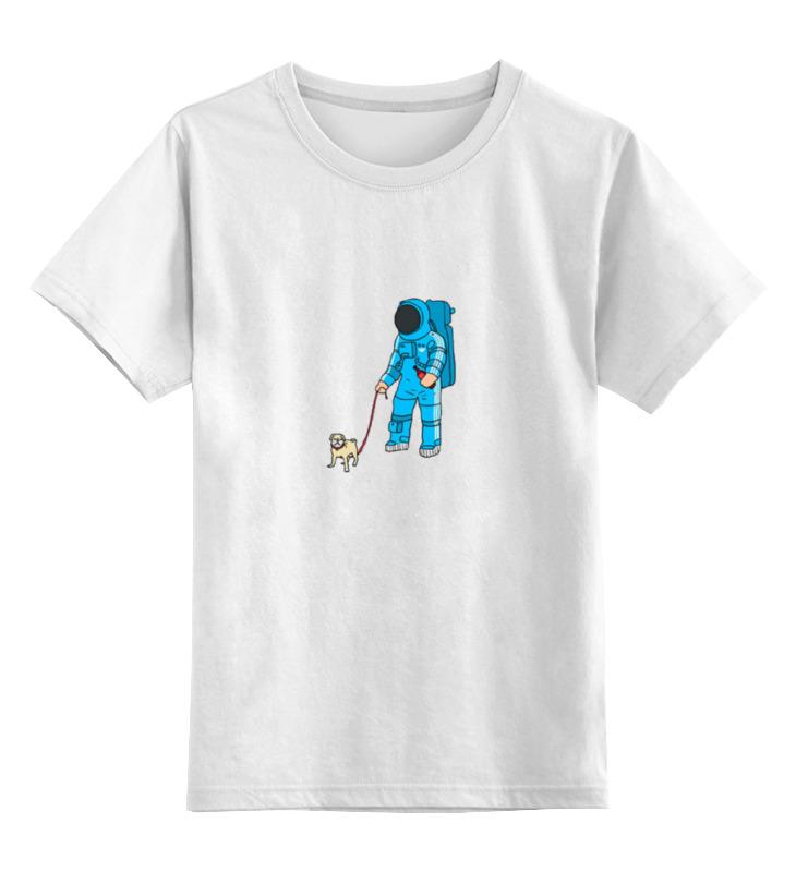 Детская футболка классическая унисекс Printio Космонавт большую мягкую игрушку собаку лежа в москве