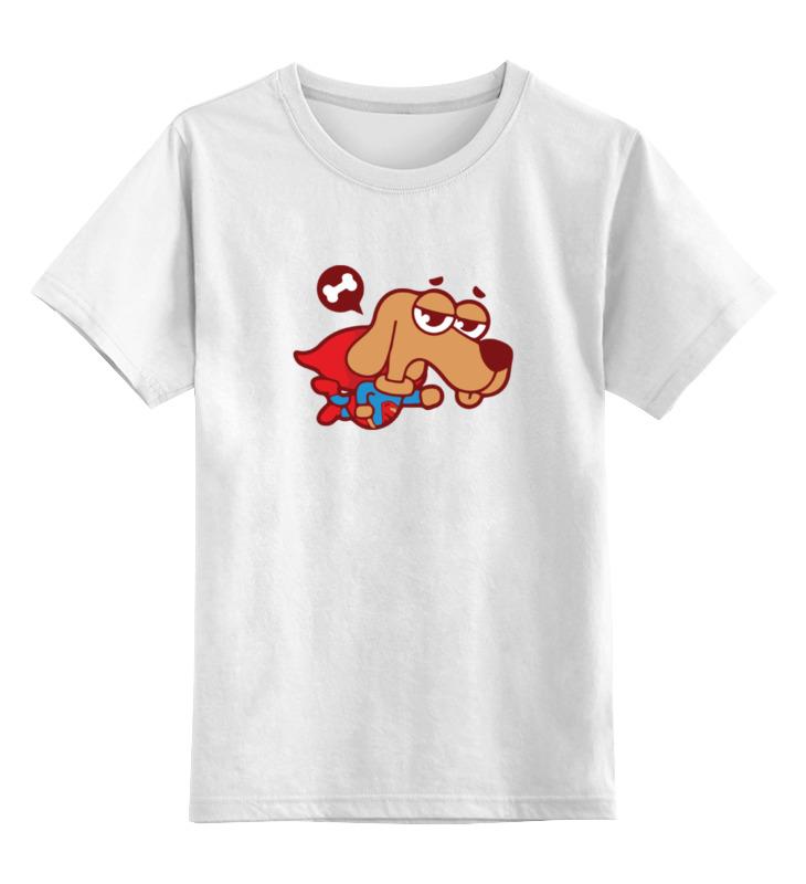 Детская футболка классическая унисекс Printio Собака (супермен) цена и фото