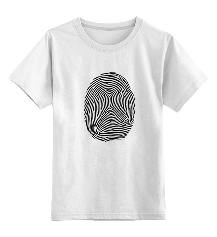 Детская футболка классическая унисекс Printio Отпечаток пальца лонгслив printio отпечаток пальца