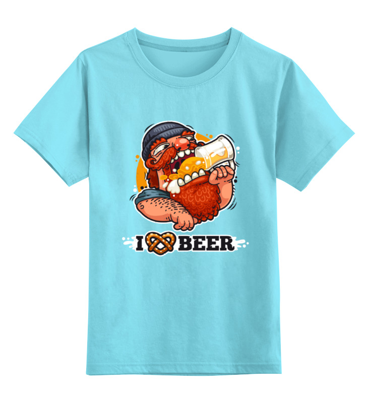 Детская футболка классическая унисекс Printio Я люблю пиво (i love beer) детская футболка классическая унисекс printio ячмень солод вода пиво