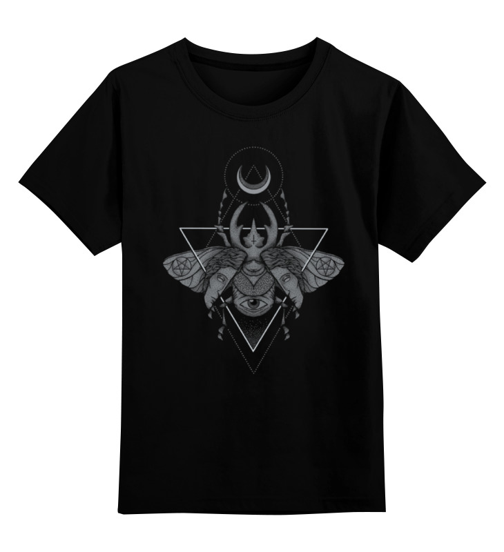 Детская футболка классическая унисекс Printio Оккультный жук