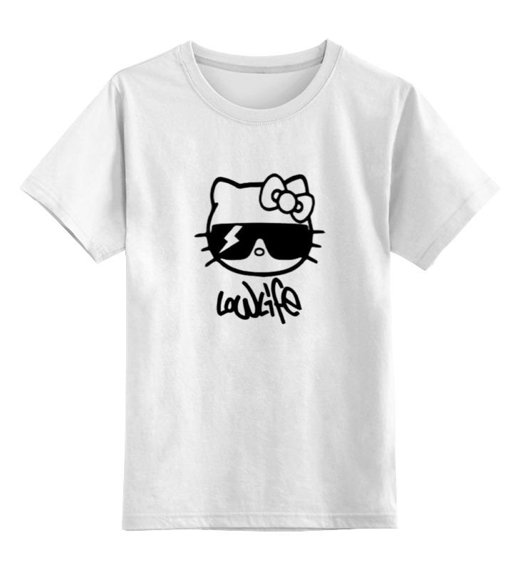 Детская футболка классическая унисекс Printio Hello kitty-low life