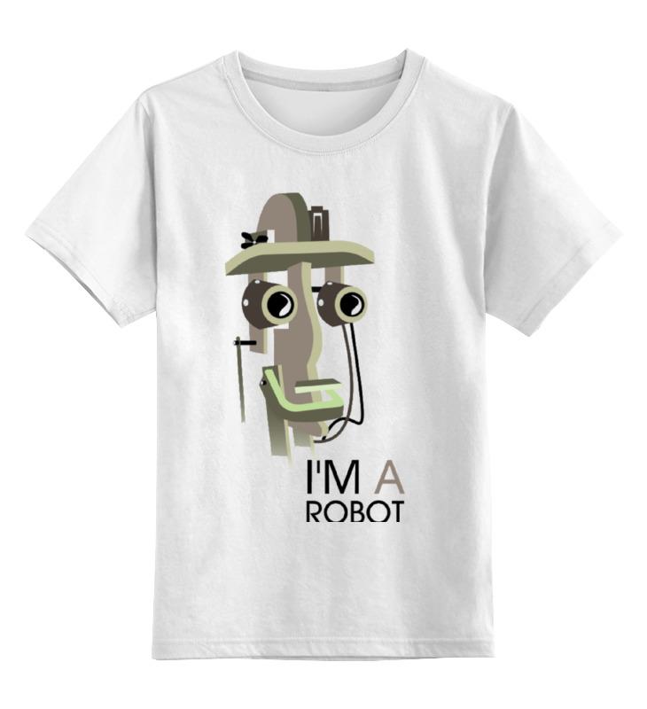Детская футболка классическая унисекс Printio I`m a robot tinyville town i m a firefighter