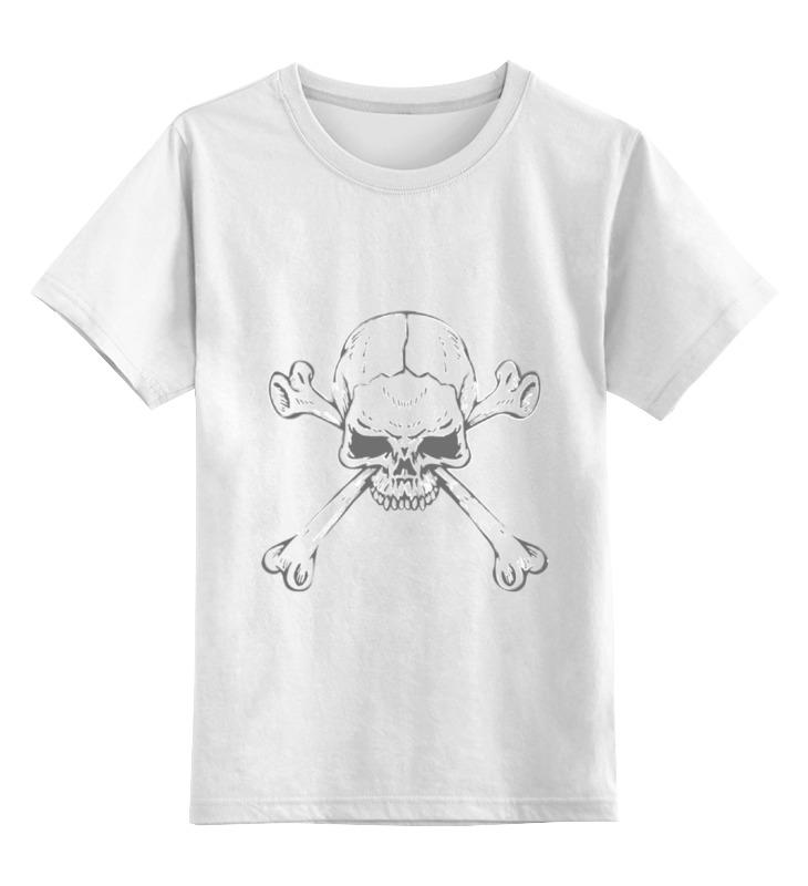 Детская футболка классическая унисекс Printio Череп  костями