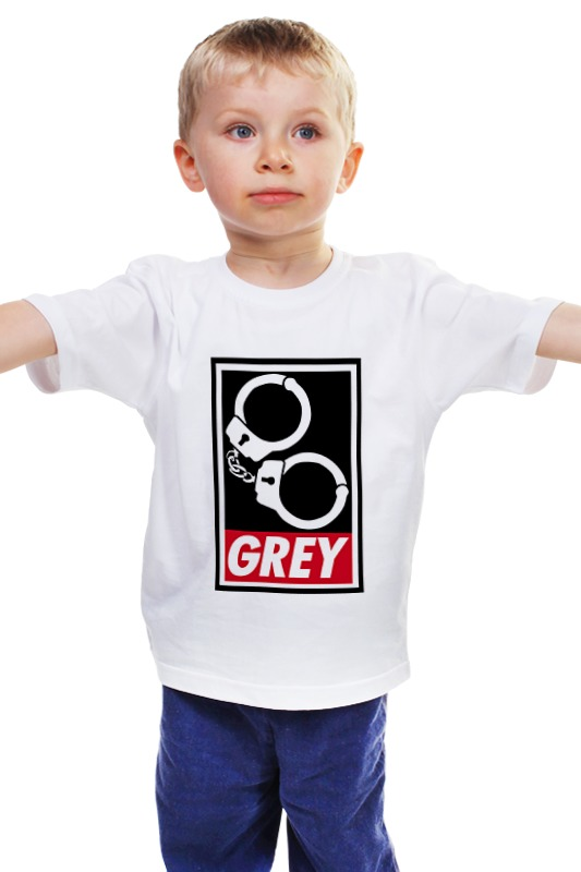 Детская футболка классическая унисекс Printio 50 оттенков серого (fifty shades of grey) fifty shades darker no bounds riding crop длинный стек из натуральной кожи