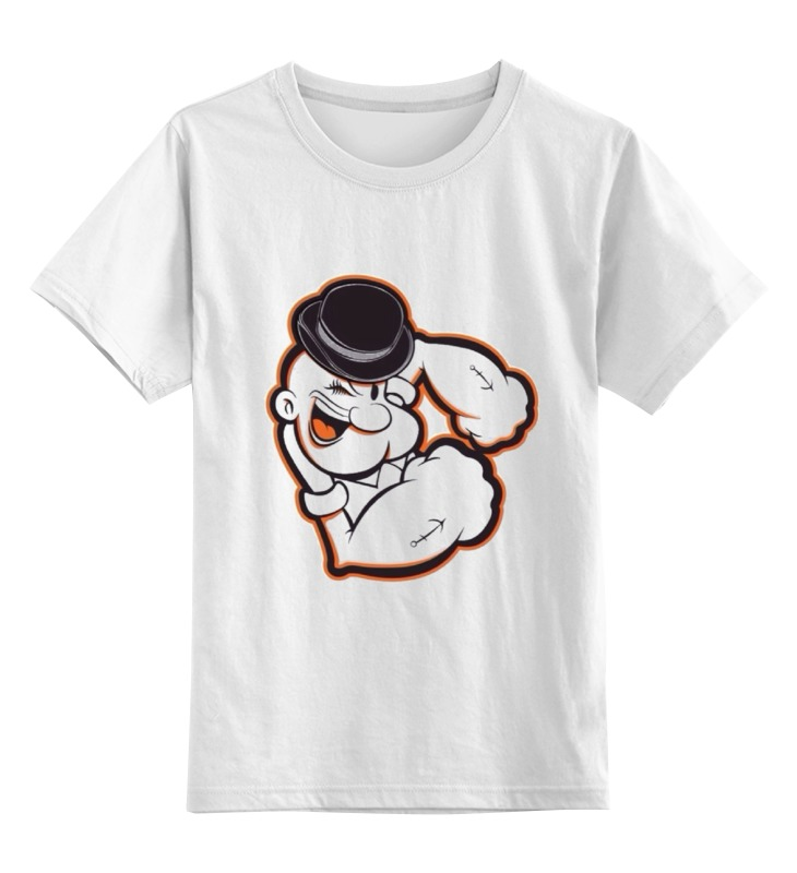 Детская футболка классическая унисекс Printio Моряк папай футболка стрэйч printio моряк папай