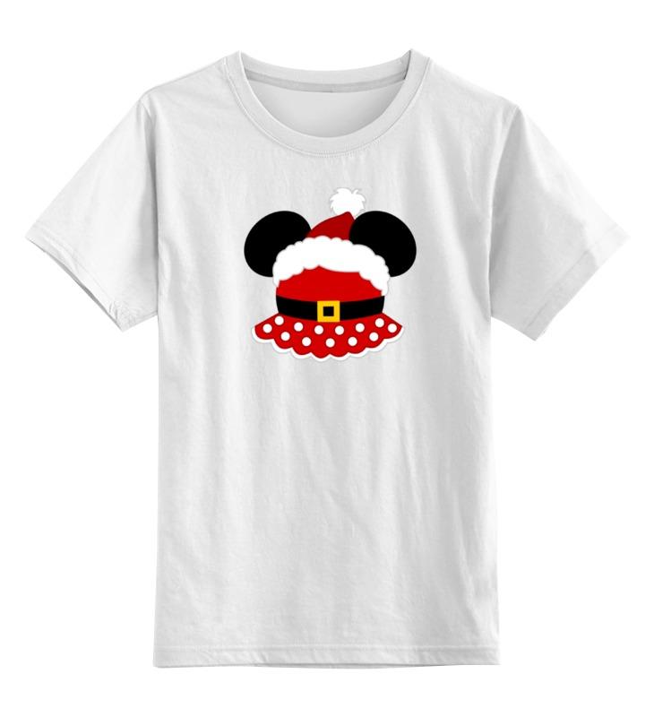 Детская футболка классическая унисекс Printio Santa minnie (санта минни)