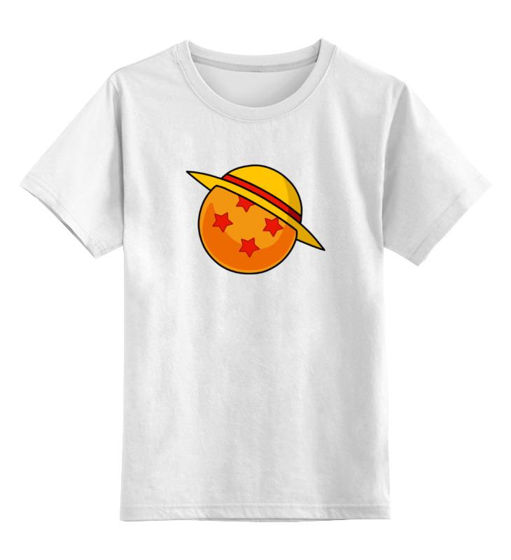 Детская футболка классическая унисекс Printio Соломенная шляпа (жемчуг дракона)