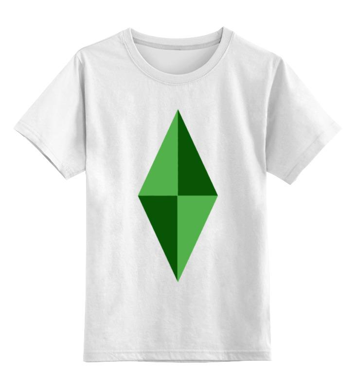Детская футболка классическая унисекс Printio Кристал (симс) как новый участок в симс 3