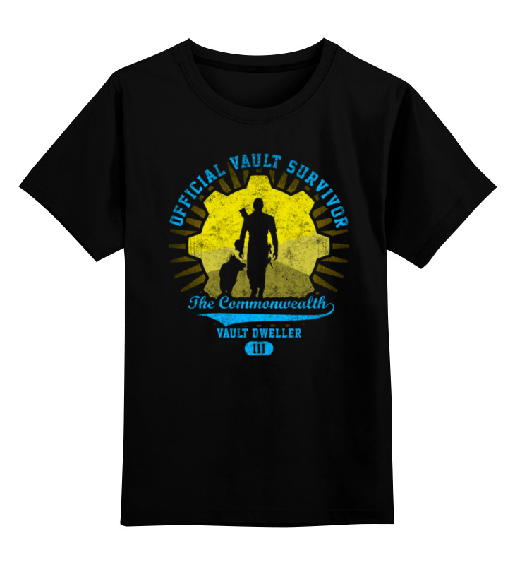 Детская футболка классическая унисекс Printio Fallout. vault dweller футболка классическая printio fallout фэллаут