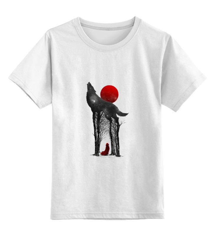 Детская футболка классическая унисекс Printio Little red футболка стрэйч printio волк и луна