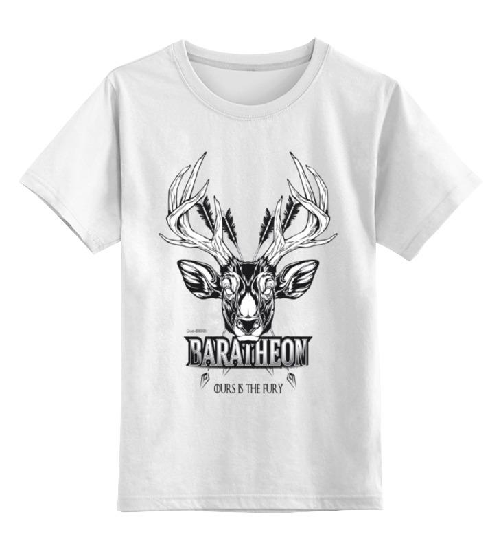 Детская футболка классическая унисекс Printio Олень баратеонов (игра престолов) детская футболка классическая унисекс printio игра слов