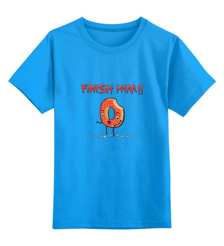 Детская футболка классическая унисекс Printio Finish him! (прикончь его) футболка print bar him