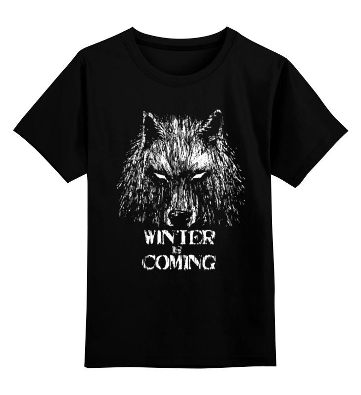 Детская футболка классическая унисекс Printio Winter is coming футболка рингер printio winter is coming