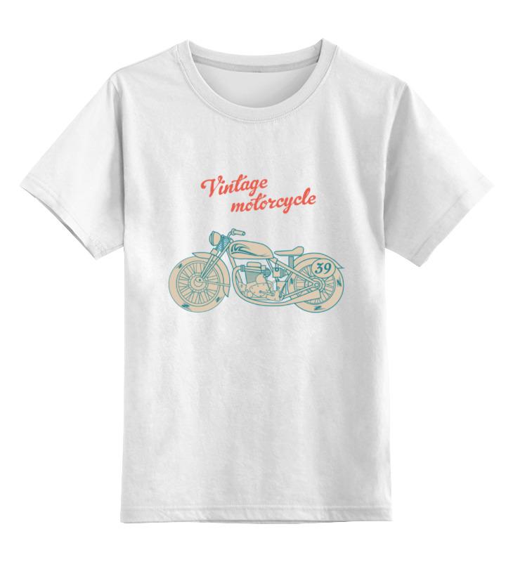 Детская футболка классическая унисекс Printio Винтажный мотоцикл цена и фото