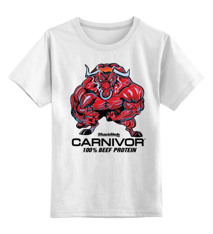 Детская футболка классическая унисекс Printio Bull bodybuilder цена