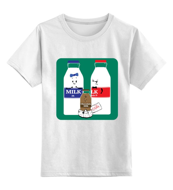 Детская футболка классическая унисекс Printio Шоколадное молочко поло print bar шоколадное молочко