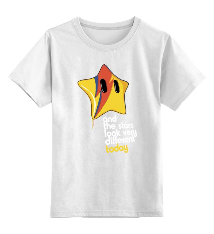 Детская футболка классическая унисекс Printio Звезда из марио (bowie)