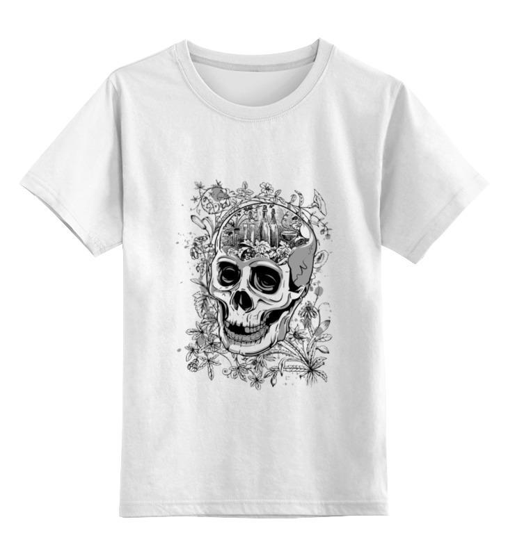 Детская футболка классическая унисекс Printio Череп с цветами детская футболка классическая унисекс printio муравьед с цветами