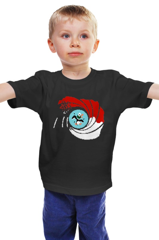 Детская футболка классическая унисекс Printio Утки (джеймс бонд)
