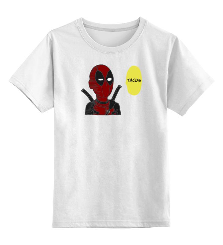 Детская футболка классическая унисекс Printio Дэдпул х сайтама цена и фото