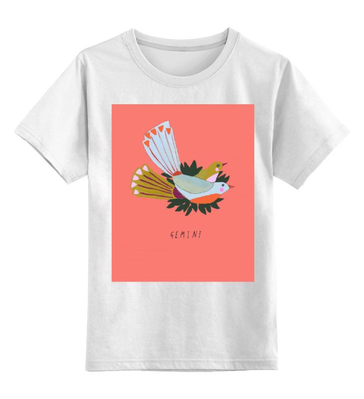 Фото - Детская футболка классическая унисекс Printio Близнецы конструктор знаки зодиака водолей avtoys