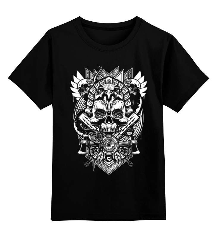 Детская футболка классическая унисекс Printio Племя черепа.