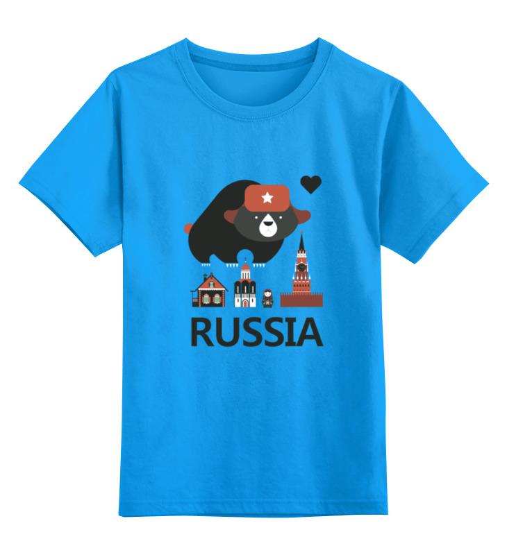 Детская футболка классическая унисекс Printio Россия (russia) россия матрешка 10 мест сказки