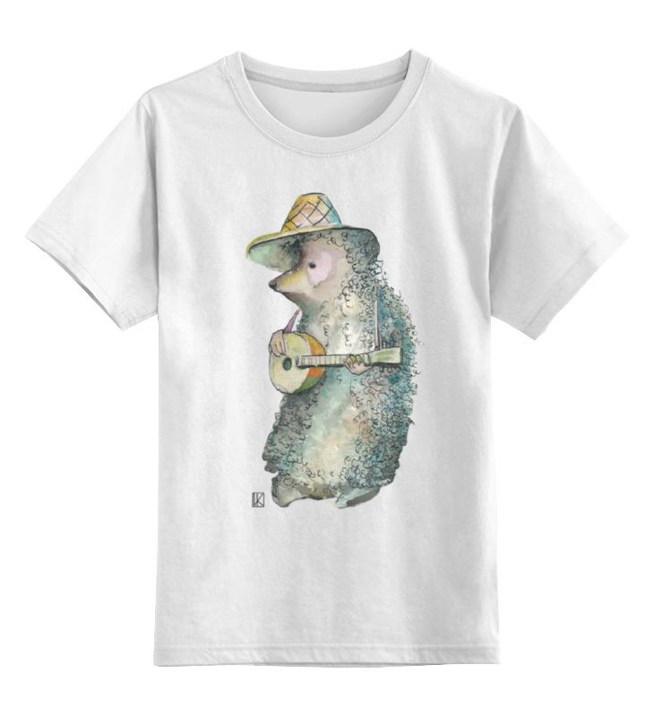Детская футболка классическая унисекс Printio Ёжик музыкант цена и фото