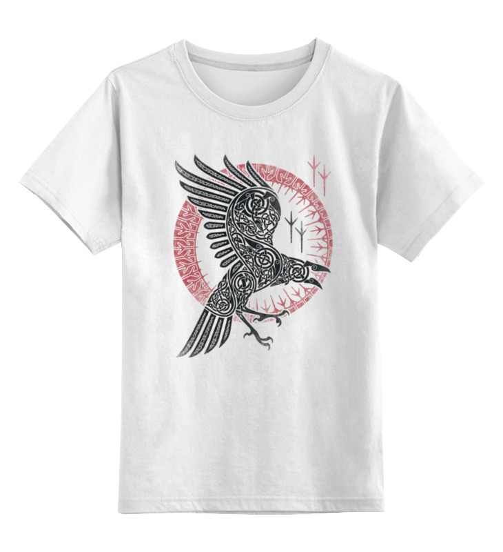 Фото - Детская футболка классическая унисекс Printio Чёрный ворон детская футболка классическая унисекс printio ворон свободы
