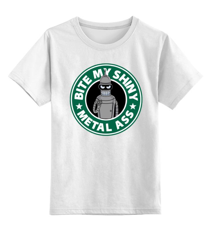 Детская футболка классическая унисекс Printio Бендер (футурама) повар