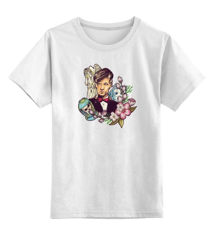 Детская футболка классическая унисекс Printio 11-ый доктор кто гибсон а доктор кто энциклопедия персонажей