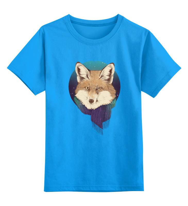 Детская футболка классическая унисекс Printio Лиса в шарфике детская футболка классическая унисекс printio fox лиса