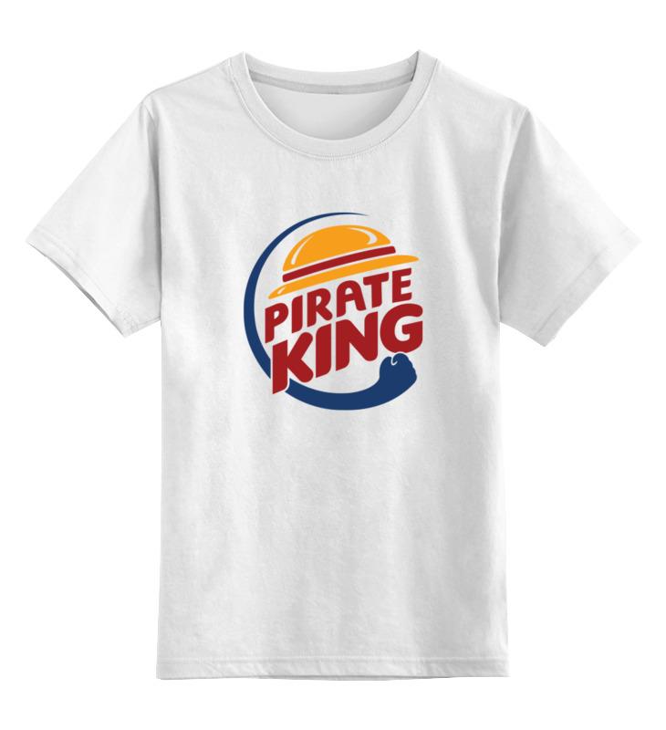 Детская футболка классическая унисекс Printio Король пиратов (соломенная шляпа)