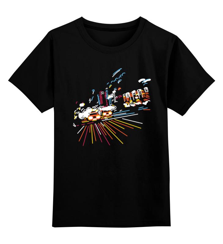 Детская футболка классическая унисекс Printio Ночной город уличный светильник 1001s черный 4690389076053 elektrostandard 1168537