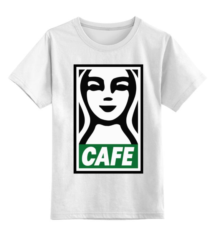 Детская футболка классическая унисекс Printio Starbucks (obey)