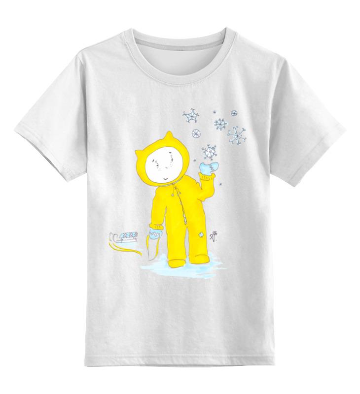 Детская футболка классическая унисекс Printio Зимняя прогулка лабиринт зимняя сказка волшебная зима