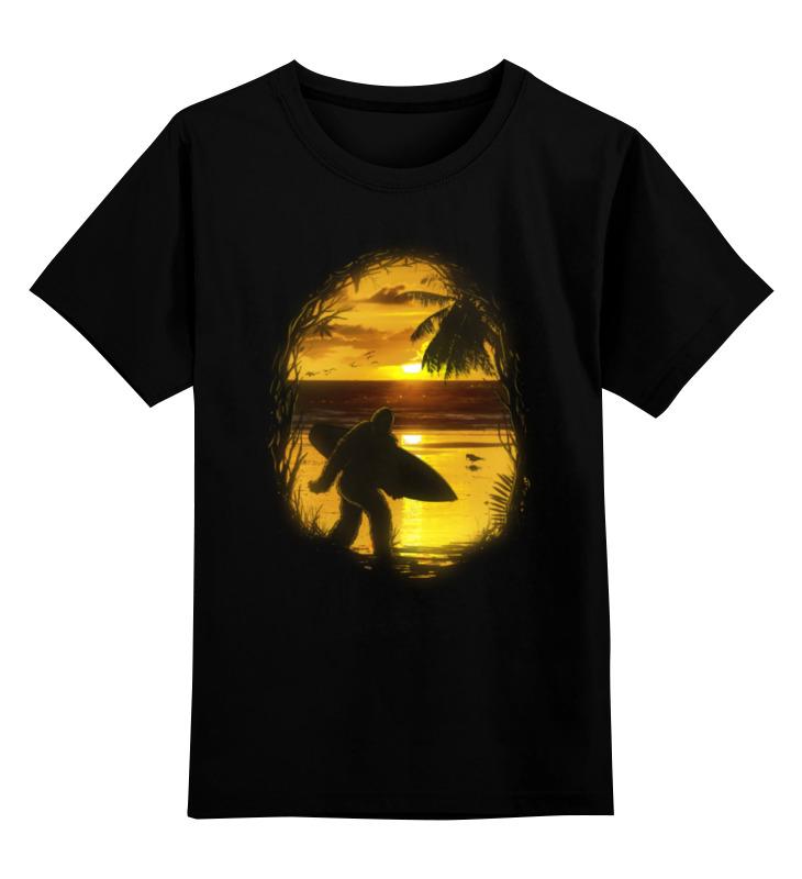 Детская футболка классическая унисекс Printio Йети на пляже