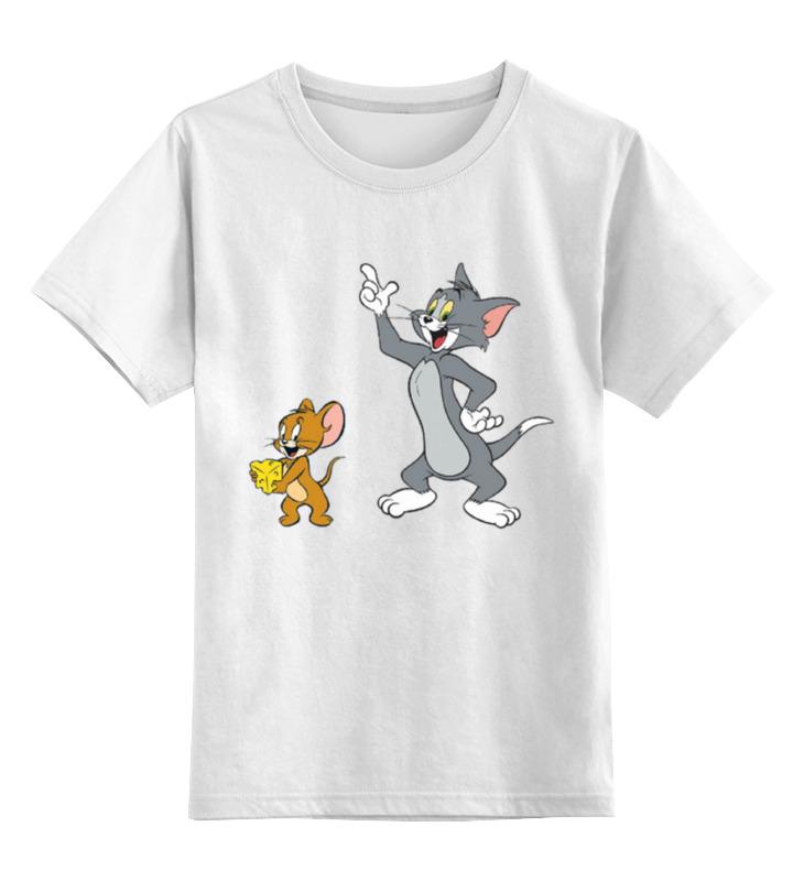 цена Детская футболка классическая унисекс Printio Том и джери