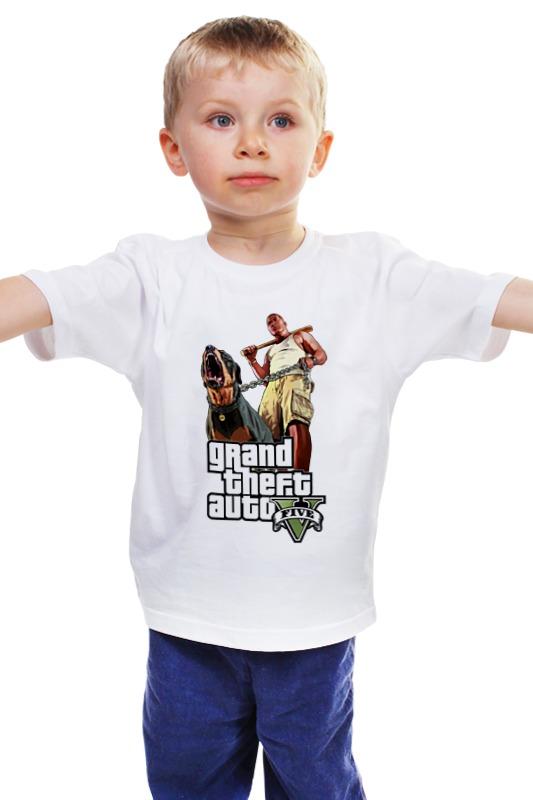 Детская футболка классическая унисекс Printio Gta 5 dog & man сумка printio gta 5 dog