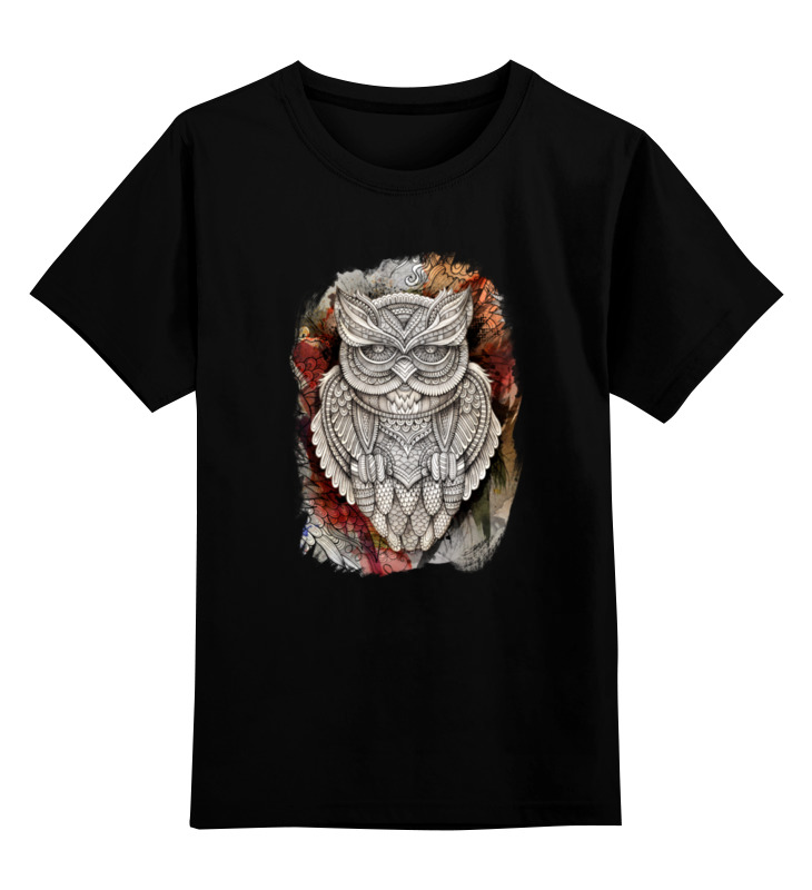 Детская футболка классическая унисекс Printio Doodle owl майка классическая printio doodle owl