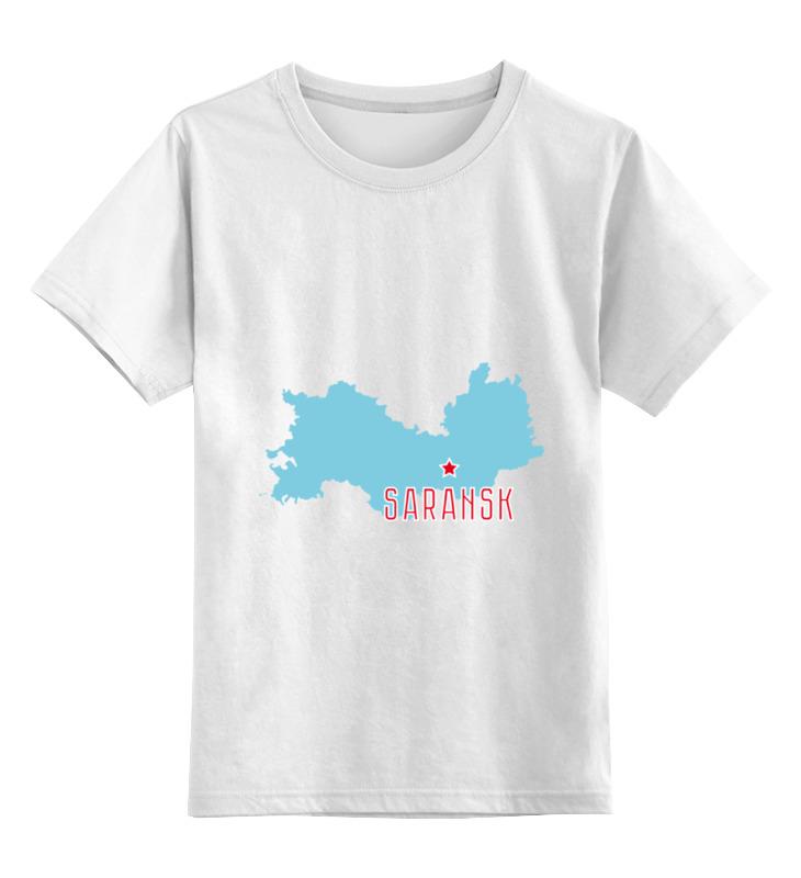 Детская футболка классическая унисекс Printio Республика мордовия. саранск сумка printio республика мордовия саранск