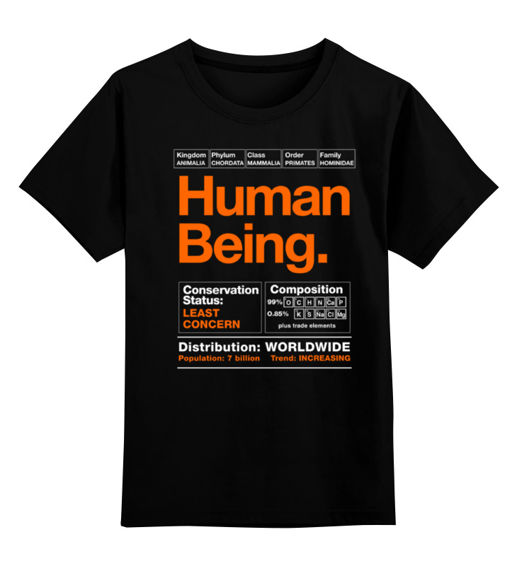 Детская футболка классическая унисекс Printio Human being being human the road