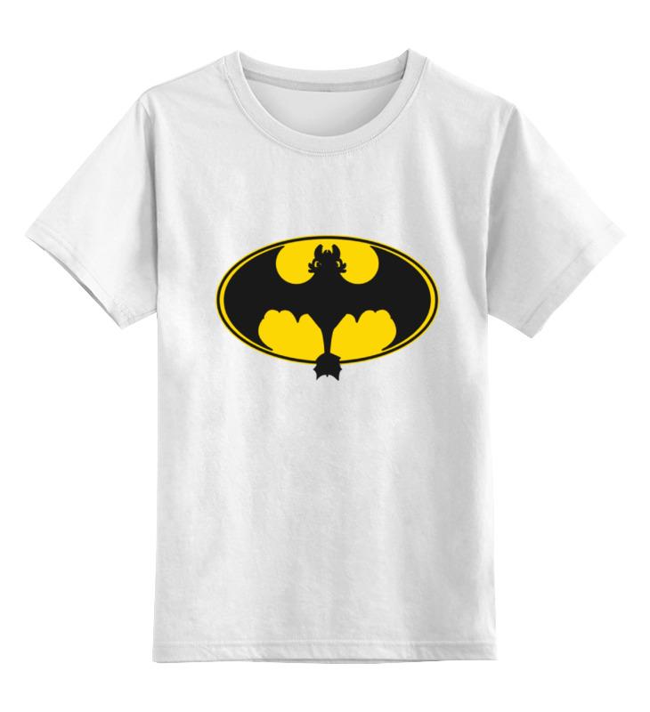 Детская футболка классическая унисекс Printio Night fury x batman лонгслив printio ice king x batman