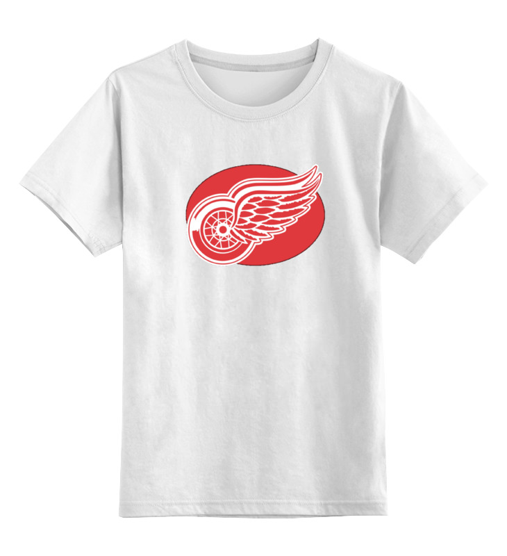 Детская футболка классическая унисекс Printio Detroit red wings / nhl usa толстовка мужская nhl detroit red wings цвет черный красный 35320 размер xxl 54