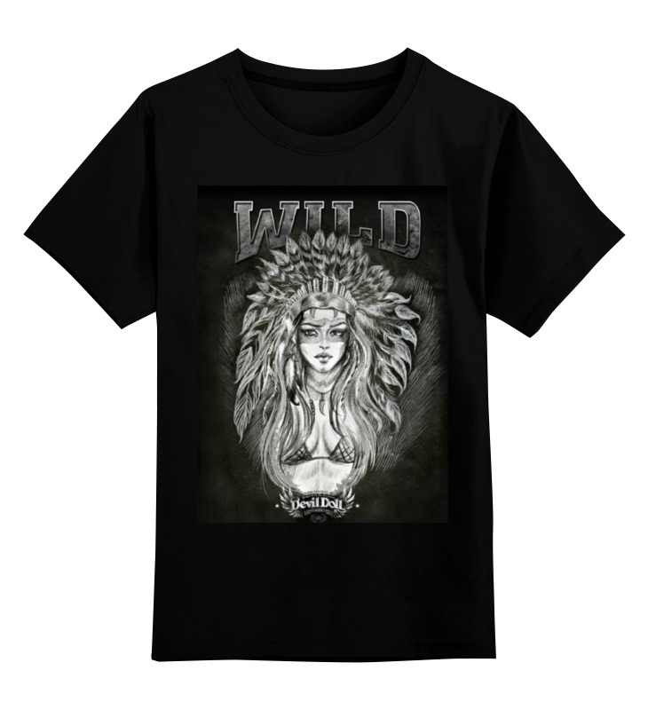 Детская футболка классическая унисекс Printio wild by devildoll детская футболка классическая унисекс printio wild by devildoll